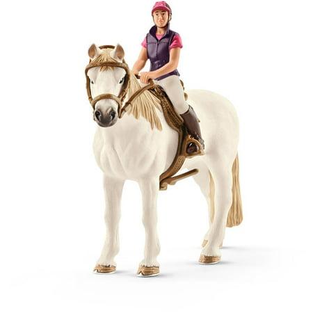 Schleich Farmland, Horse with Recreational Rider Toy (Frolic Horse)