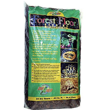 Zoo Med Forrest Floor Bedding - All Natural Cypress Mulch 24 Quarts - Pack of (Cypress Mulch)