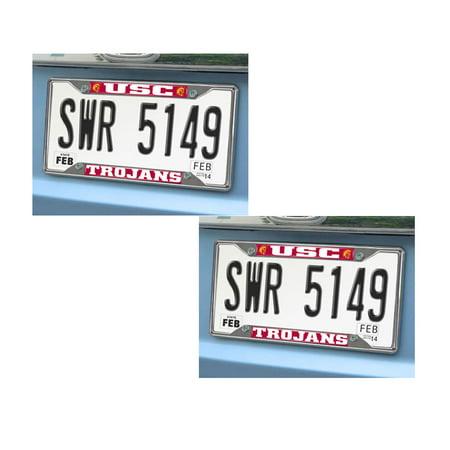 USC Trojans 2 Chrome Metal License Plate Frames - Walmart.com