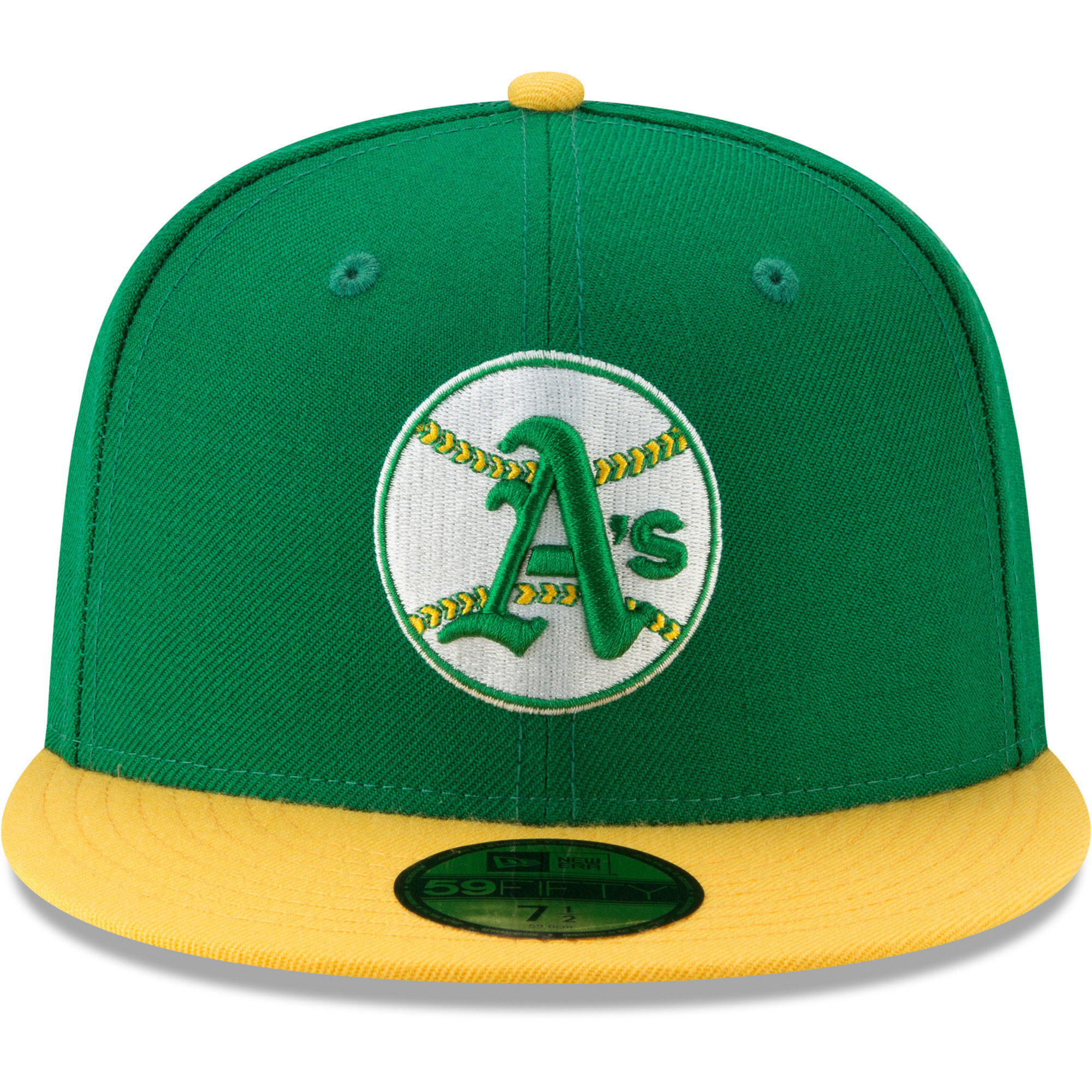 on sale 5e7bc cf187 Oakland Athletics New Era Cooperstown Collection Alt Logo Pack 59FIFTY  Fitted Hat - Green - Walmart.com