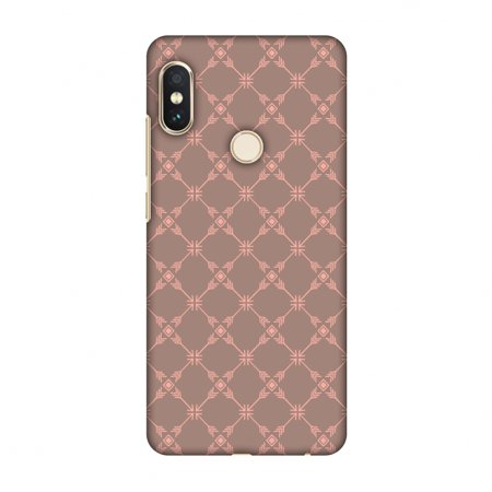 Xiaomi Redmi Note 5 Pro Case - Tribal mesh- Antique brass, Hard Plastic Back Cover, Slim Profile Cute Printed Designer Snap on Case with Screen Cleaning Kit