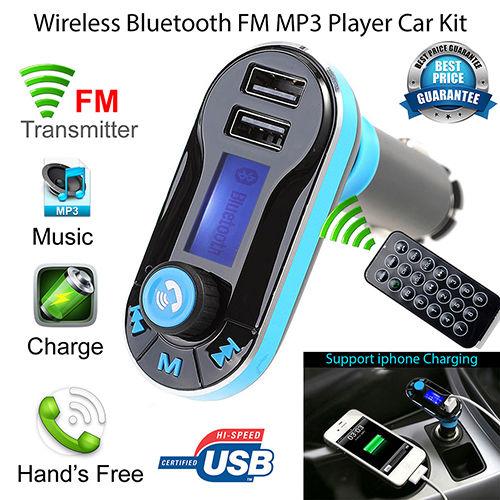 Wireless In-Car Bluetooth FM Transmitter Radio Adapter Car MP3 Player Handsfree Kit