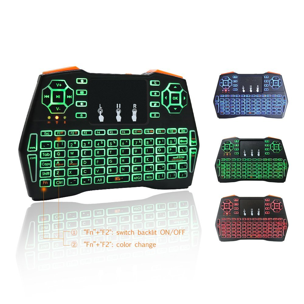 Smarit i8+ 2.4GHz Plus Mini Wireless Keyboard with Touchp...
