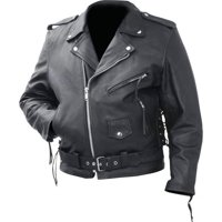 Rocky Mountain Hides BKMCBM3X Solid Genuine Cowhide Leather Classic Motorcycle Jacket - 3X