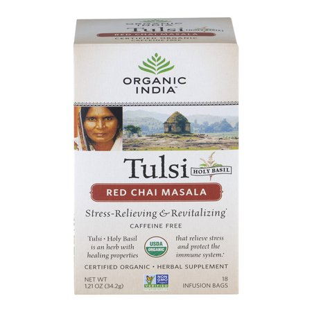 Tulsi Red Chai Masala Tea - 18 Sacs (1,21 oz / 34.2 grammes) par Organic India Tulsi Red Chai Masala Tea - 18 Sacs (1,21 oz / 34.2 grammes) par Organic India
