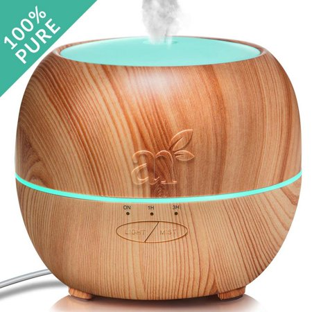artnaturals Essential Oil Diffuser?Best Electric Cool Mist Aromatherapy Humidifier Aroma Diffuser?Spa Fragrance For The Whole House?Auto Shut-off & 7 Color LED Lights Changing for Office & Home