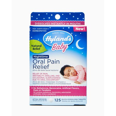 Hyland's Baby Nighttime Oral Pain Relief, 125 (Best Teething Remedies For Babies)