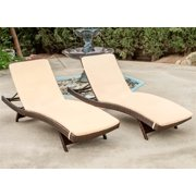 Chaise Lounge with Cushions - Set of 2