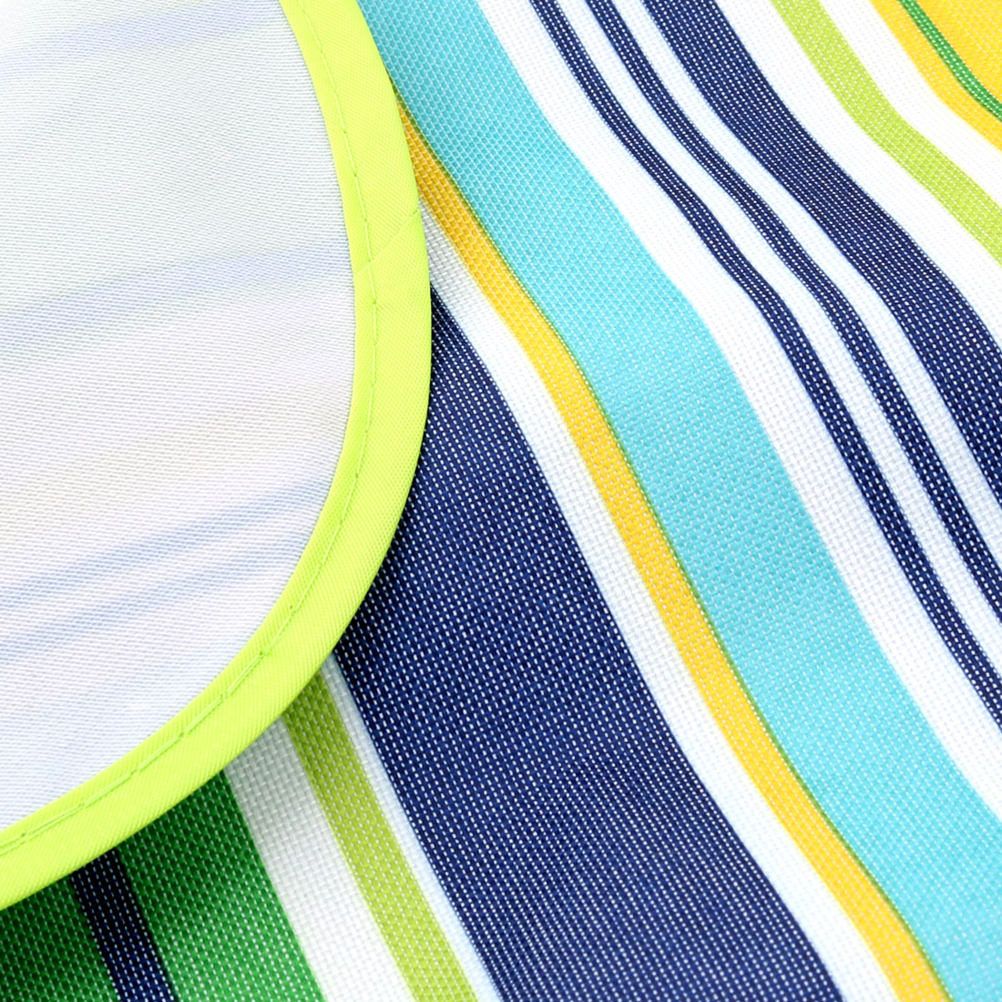 Hiking Nylon Stripe Pattern Moisture Resistant Picnic Mat Lawn Green 145 x 180cm - image 2 de 6