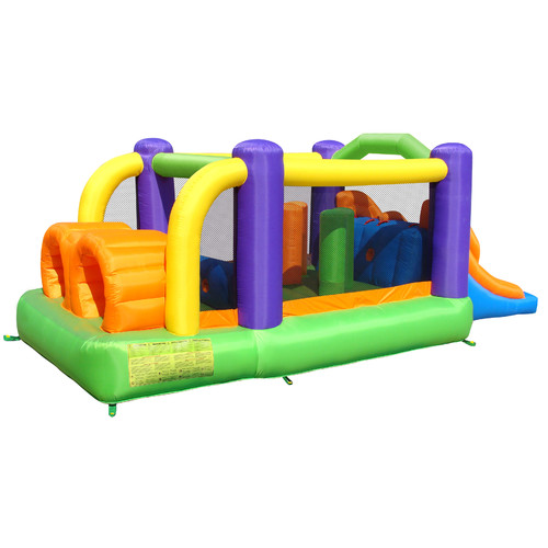 Bounceland Inflatable Obstacle Pro-Racer Bounce House by Overstock