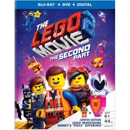 The Lego Movie 2: The Second Part (Walmart Exclusive) (Lego Minifigure + Blu-ray + DVD + Digital Copy)