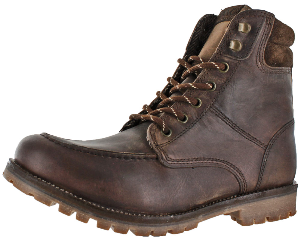 Crevo Men's Rough Neck Leather Casual Hiking Boots by Crevo