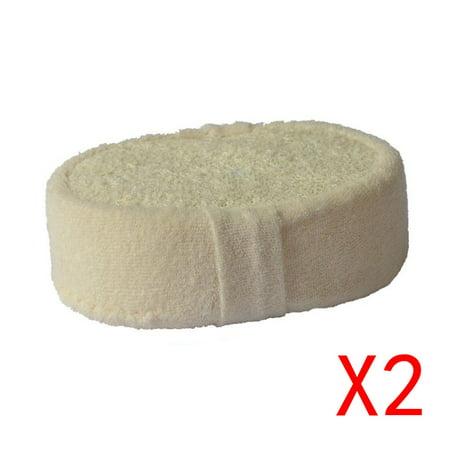 2Pcs Natural Loofah Sponge Bath Ball Shower Rub For Whole Body Healthy Massage Brush