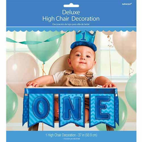 1st Birthday Deluxe High Chair Decoration Boy Walmartcom