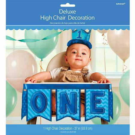 1st Birthday Deluxe High Chair Decoration Boy