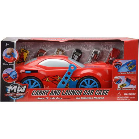 Carry and Launch Car Case with 6 Die Cast Cars