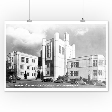 Berkeley, California - University of CA Student Co-Op Bldg Photograph (9x12 Art Print, Wall Decor Travel Poster)