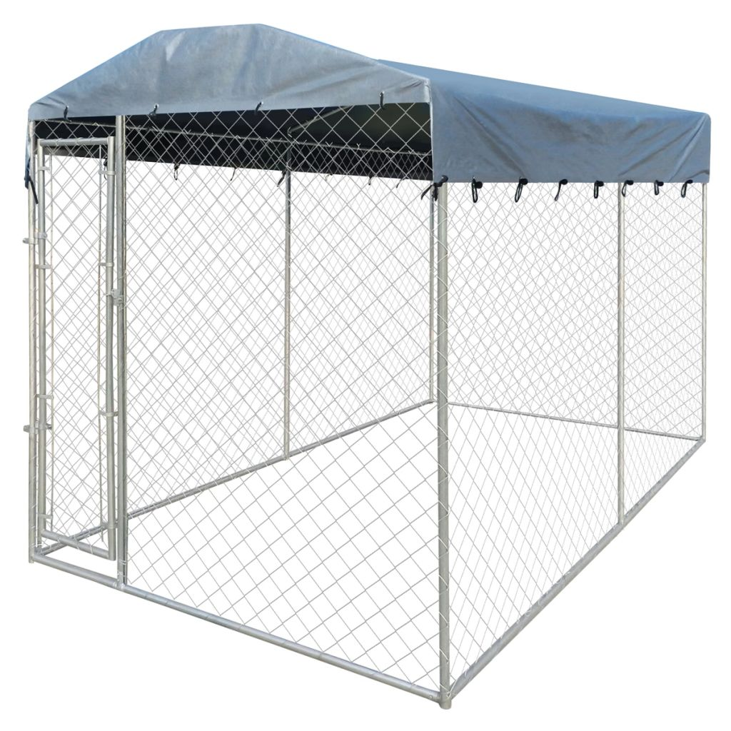 TIMCHEE Pet Dog Cat Crate Kennel Cage Bed Cozy House Kit Playpen 13'x6' Outdoor with Canopy Top