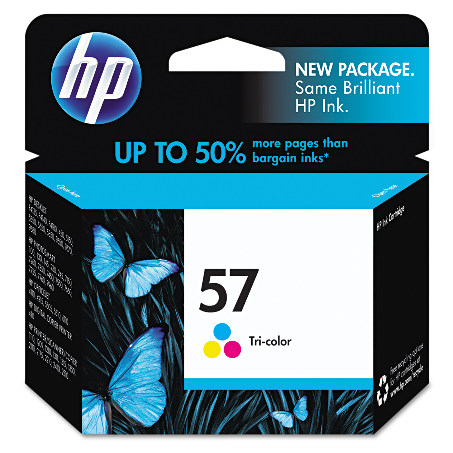 HP 57, (C6657AN) Tri-color Original Ink Cartridge by HP