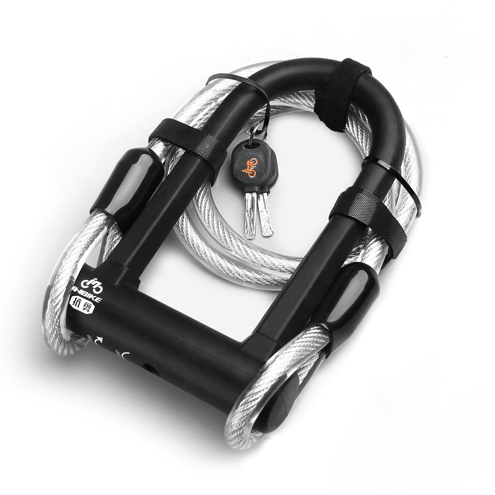 Black Bike cable lock Heavy Duty