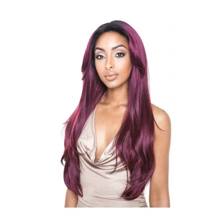 Isis Brown Sugar Human Hair Blend Soft Swiss Lace Front Wig - BS216 (COLOR: 1 - JET