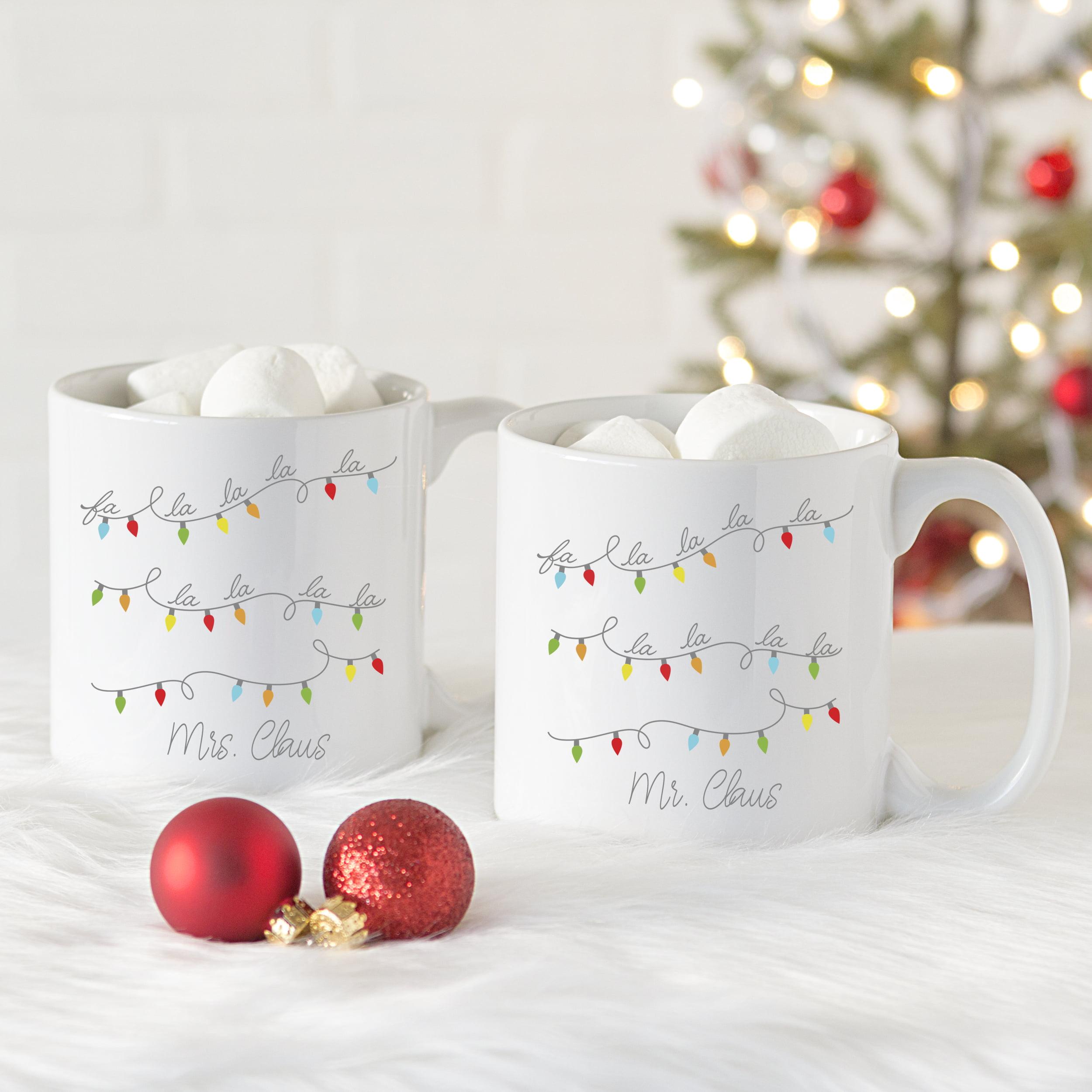 Personalized Fa La La Large 20 oz. Coffee Mugs (Set of 2)
