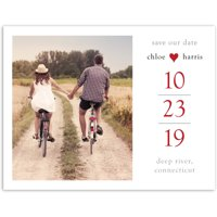 Future and Forever Wedding Save the Date Postcard