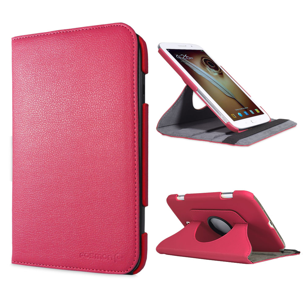 Samsung Galaxy Note 8.0 N5100 N5110 Rotating PU Leather Stand Case Cover - Pink