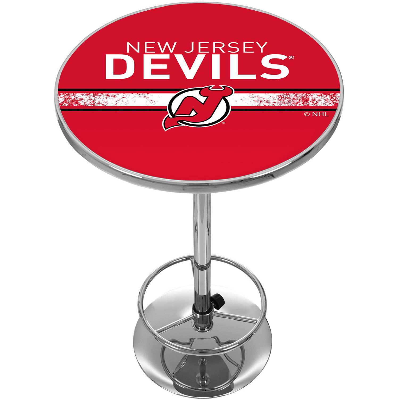 NHL Chrome Pub Table, New Jersey Devils