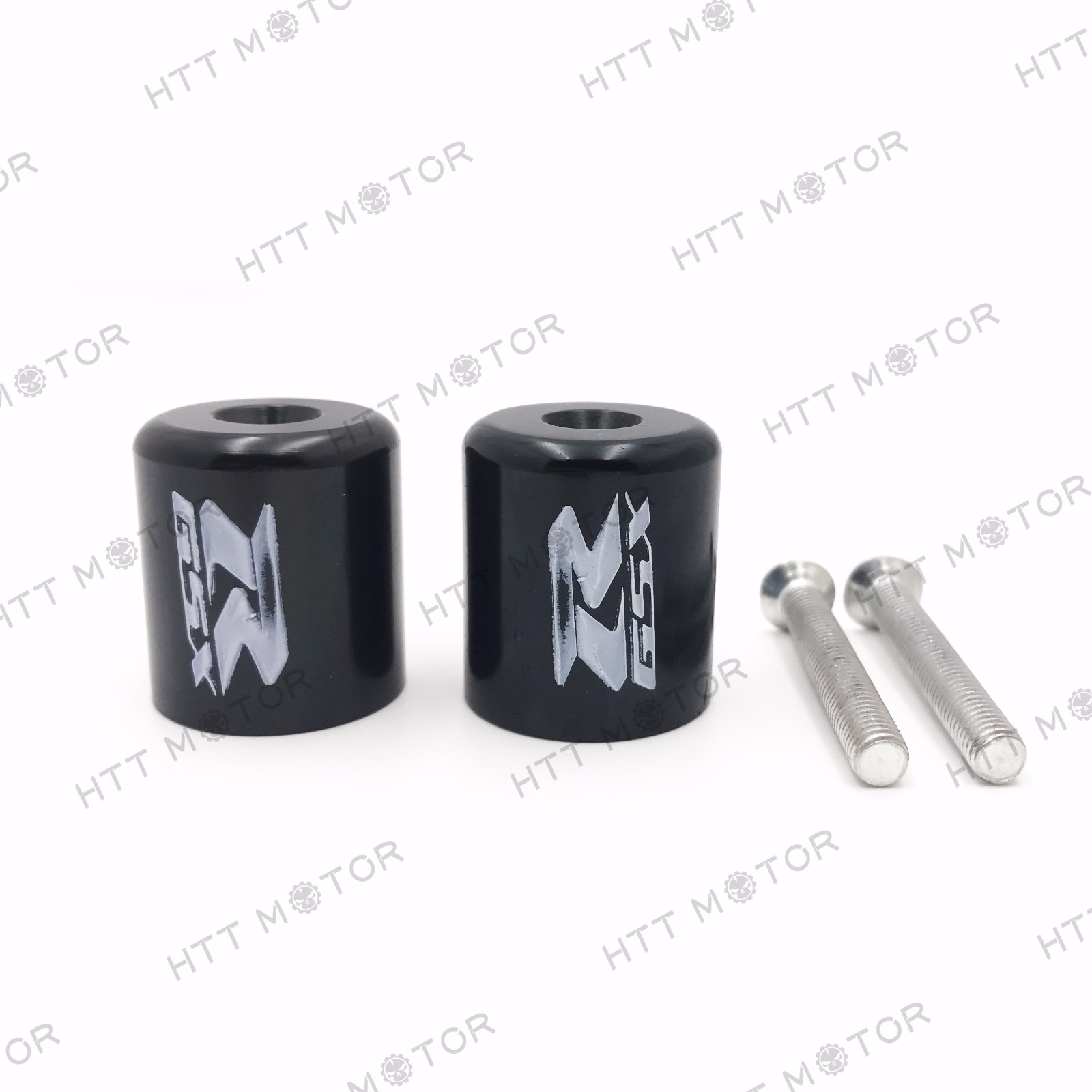 "HTTMT- Black Hand Bar End For Suzuki GSXR600 92-14/GSXR750 96-14/GSXR1000 01-14 ""GSXR"""