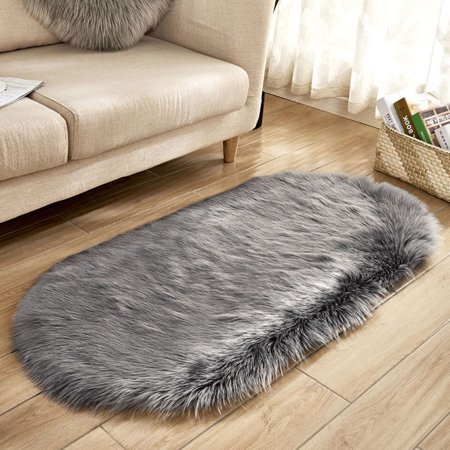 Tuscom Soft Rug Chair Cover Artificial Sheepskin Wool Warm Hairy Carpet Seat Mats GY M](Carpet Covers For Parties)