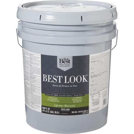 Best look 100 acrylic latex paint primer in one semi for Exterior latex primer