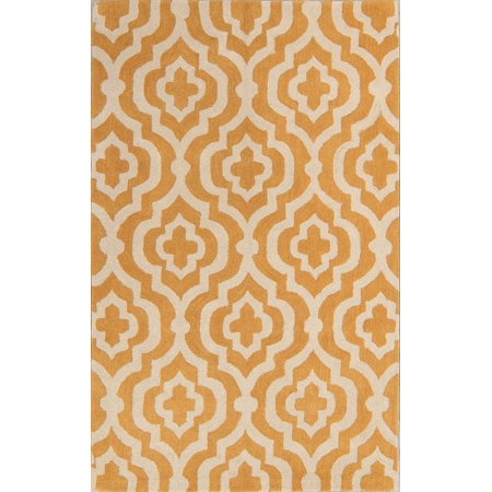 RugSource Hand-Tufted Yellow Fretwork Moroccan Trellis Area Rug 10x13