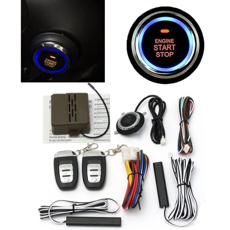 Keypad Entry Alarm - 8Pcs Car Remote Control Alarm Engine Start Security System Keyless Entry Push Button