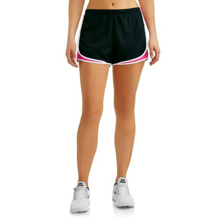 Women's Active Running Short with Textured Mesh
