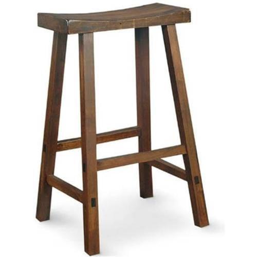 Intenational Concepts 1S61-682 Saddle Seat Stool - 24 inch  Walnut