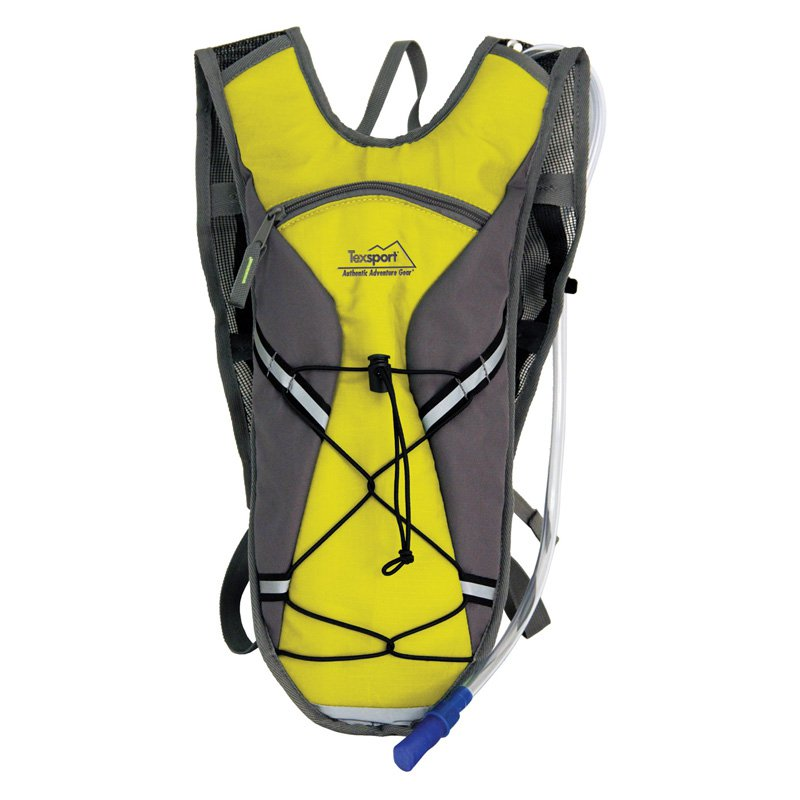 Texsport Brazos Hydration Pack, 2 Liter, Vibrant Yello with Gray