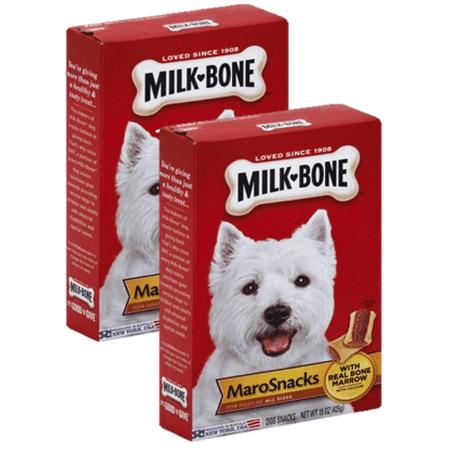 (2 Pack) Milk-Bone MaroSnacks Dog Treats, 15-Ounce