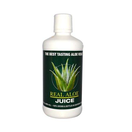 Real Aloe Real Aloe Vera  Aloe Vera Juice, 32 oz (Health Benefits Of Organic Aloe Vera Juice)