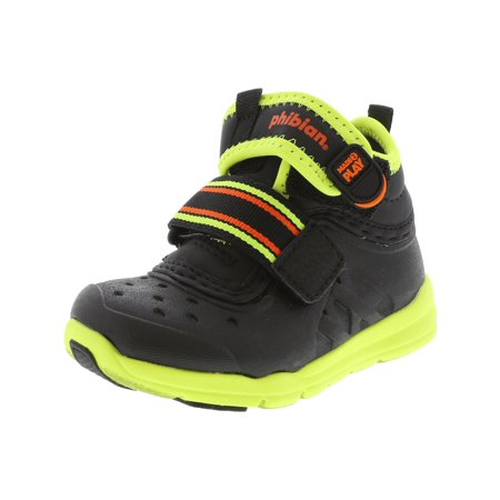 Blue Womens Snowboard Boots - Stride Rite Made 2 Play Phibian Black / Citron Trail Runner - 4M