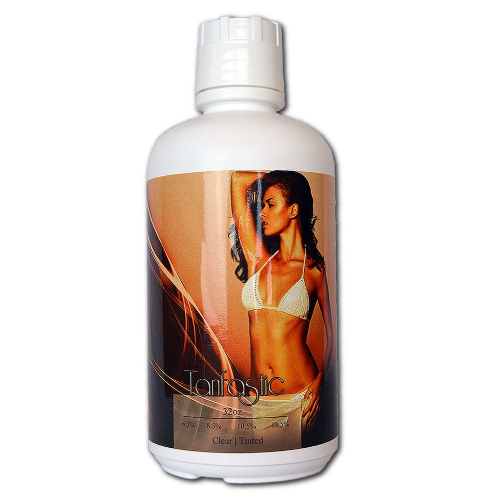 Tanfastic E Blend 10.5%  Med/Dark Self-Tan Sunless Airbrush Spray Tanning Solution 64 oz