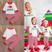 Christmas Santa Infant Baby Boy Girl Outfits Clothes Romper Pants Leggings Set