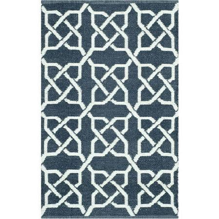 safavieh thom filicia hand woven indoor outdoor ink plastic rug 2 39 6 x 4 39. Black Bedroom Furniture Sets. Home Design Ideas