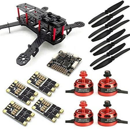 SpeedyFPV ZMR250 FPV Racing Drone Kit with F3 Flight Controller, 2205  Motors, 30A ESC 24S