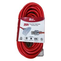 Royal Designs Indoor/Outdoor Heavy Duty 25 ft Red Extension Cord with Indicator light