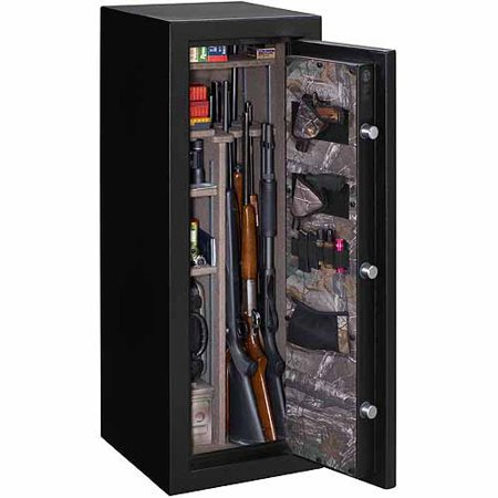stack-on 18-gun buck commander fire-resistant safe with electronic