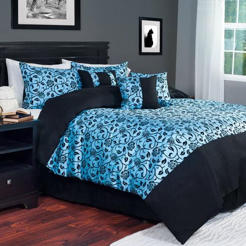 Somerset Home 7-Piece Victoria Damask Bedding Comforter Set