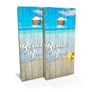 Beach Bum Cornhole Board Set - Choose Your Size & Accessories