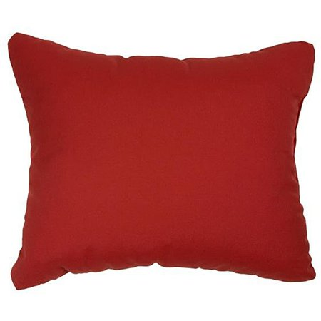Humble and Haute Canvas Jockey Red Knife-edge Indoor/ Outdoor Throw Pillows with Sunbrella Fabric (Set of -