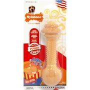 NYLABONE CORP (BONES) FLAVOR FRENZY BARBELL MED/LARGE FRIED CHICKEN